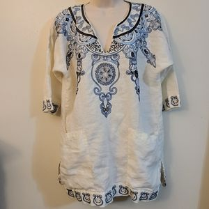 Zara blouse with embroidery